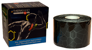 "TheraBand Kinesiology Tape Standard Roll, 2"" x 16.4' - Black/Gray Print"