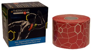 "TheraBand Kinesiology Tape Standard Roll, 2"" x 16.4' - Pink/White Print"